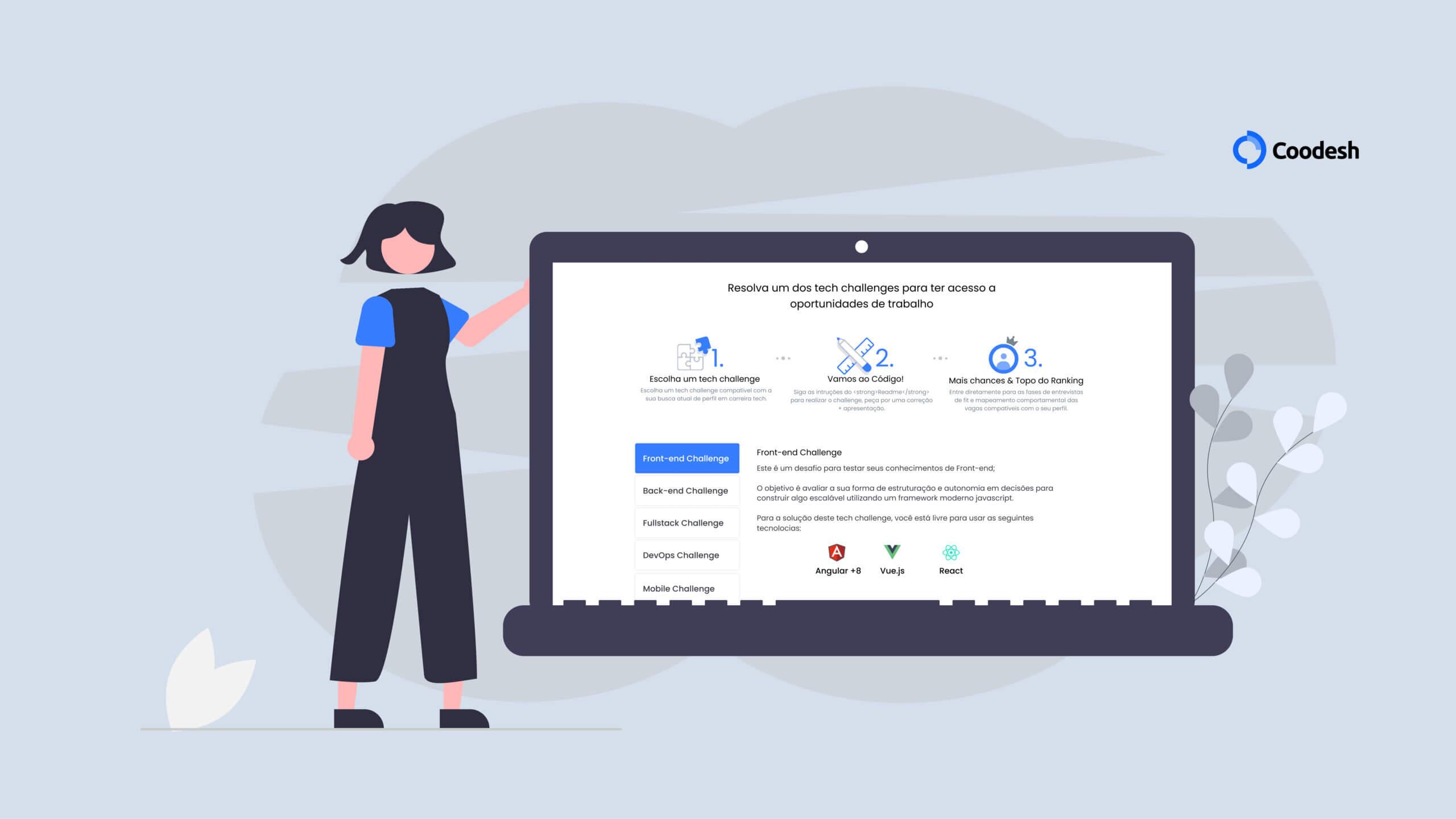 Atenção DEVs: confira o novo painel de usuários com desafios incríveis
